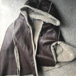 M Missoni Leather and Sherpa Capelet